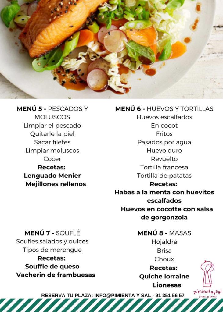 Fundamentos de Cocina 2 Escuela Pimienta y Sal Pozuelo